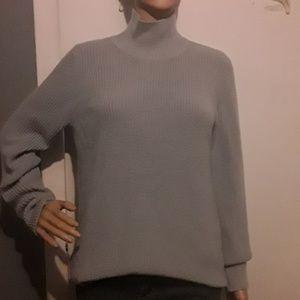 Banana Republic gray mock turtleneck sweater